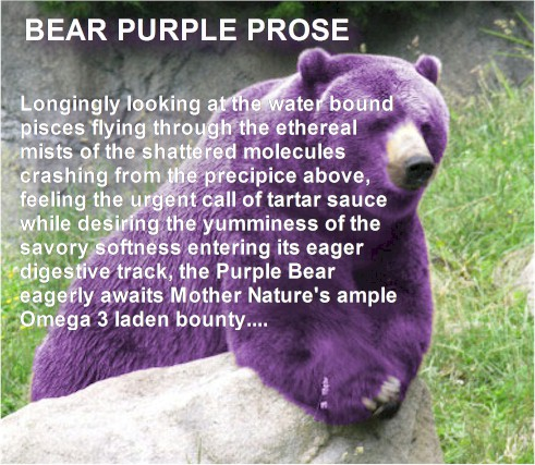 The Purple Prose Bear